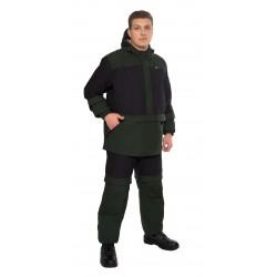 Мужской костюм Биостоп Лайт (черный/охотничий зеленый)